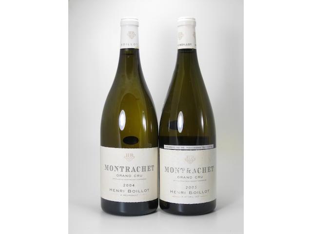 Montrachet, Boillot 2004 (4 magnums) Montrachet 2005 (1 magnum)