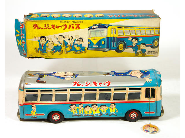 """Japanese """"Crazy Cats"""" Lithographed Bus"""