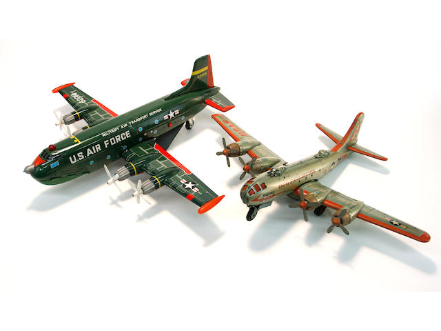 Tin Lithographed Battery Operated Airplanes