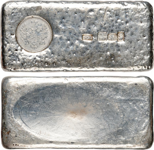 Russia, Silver Ingot with Countermarks