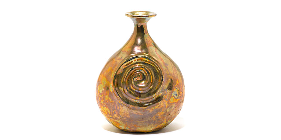 Beatrice Wood (American, 1893-1998) Vase with Spiral Decoration