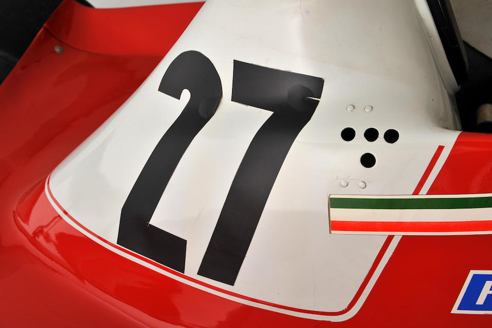 <i>The Ex-Carlos Reutemann, Gilles Villeneuve 1978 British Grand Prix-winning, 1979 Race of Champions-winning</i><br /><b>1978 FERRARI 312 T3 FORMULA 1 RACING SINGLE-SEATER</b><br /> Chassis no. 033