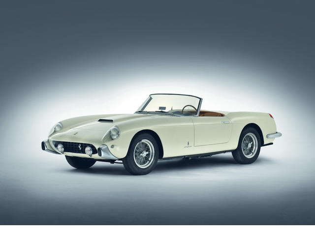 <i>The 1957 Turin Show, Ex-Carlos Kauffman</i><br /><b>1958 FERRARI 250 GT SERIES 1 CABRIOLET</b><br />Chassis no. 0759 GT<br />Engine no. 0759 GT