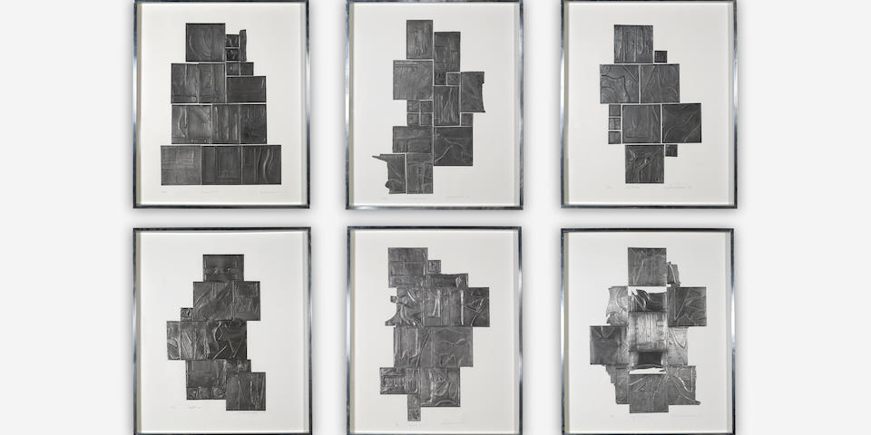 Louise Nevelson (1899-1988); Lead Intaglio series;