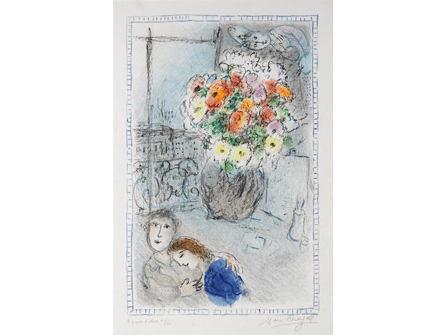 Marc Chagall (Russian/French, 1887-1985); Les Renoncules;