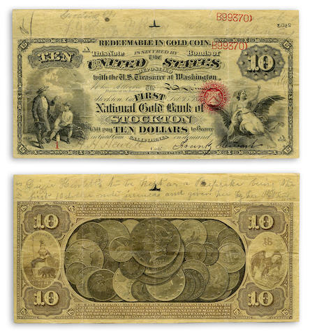 New Discovery Stockton California National Bank Note Collection