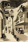 Dong Kingman (American, 1911-2000) Chinatown sight, 14 1/2 x 10in