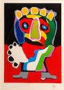 Karel Appel (Dutch, 1921-2006); Untitled (Figure with green nose);