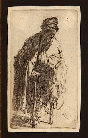Rembrandt Harmensz van Rijn (Dutch, 1606-1669); Beggar with a Wooden Leg;