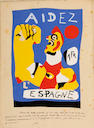 Joan Miró (Spanish, 1893-1983); Aidez L'Espagne (Help Spain);
