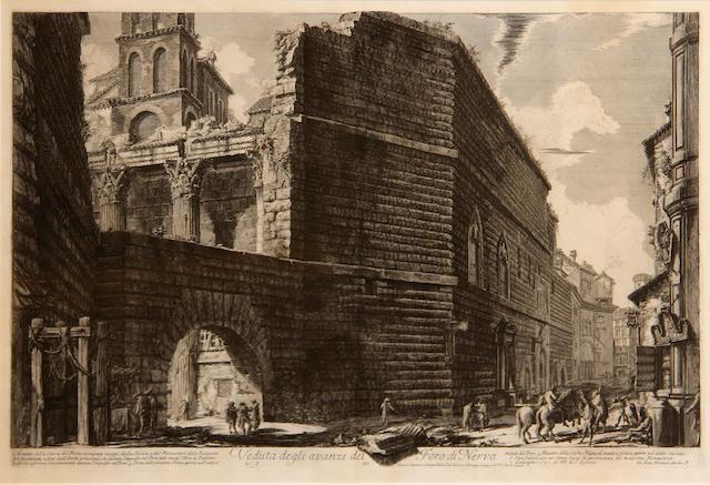 Giovanni Battista Piranesi (Italian, 1720-1778); Veduta degli avanzi del Foro di Nerva, from Vedute di Roma;