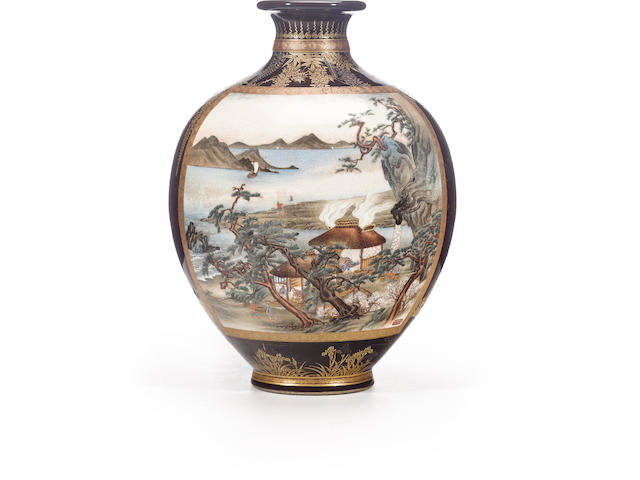 A fine Satsuma vase By Sozan for the Kinkozan studio, Meiji period (late 19th century)