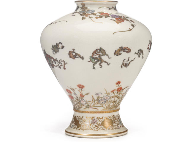A fine Satsuma vase By Yabu Meizan, Meiji period (late 19th century)