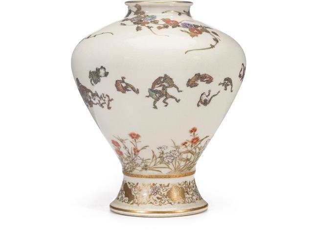 A fine Satsuma vase By Yabu Meizan, Meiji period (late 19th century)