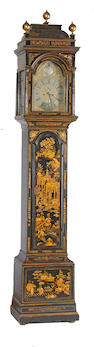 A George III chinoiserie decorated tall case clock William Barron, London