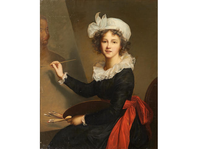 After Elisabeth Louise Vigée Le Brun A self portrait 40 1/4 x 32 1/4in (102.2 x 81.9cm)