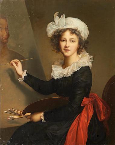 After Elisabeth Louise Vigée Le Brun A self portrait 40 1/4 x 32 1/4in (102.2 x 81.9cm)