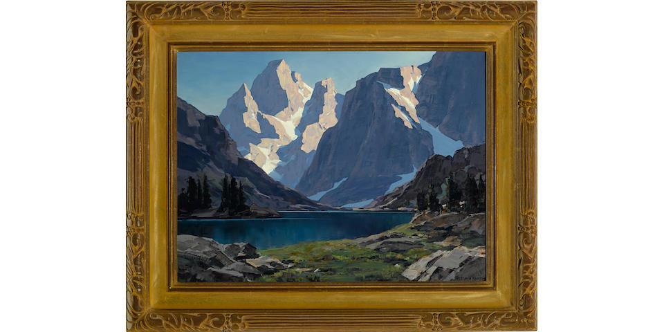 Leland S. Curtis (American, 1897-1989) Sierra lake 18 x 24in