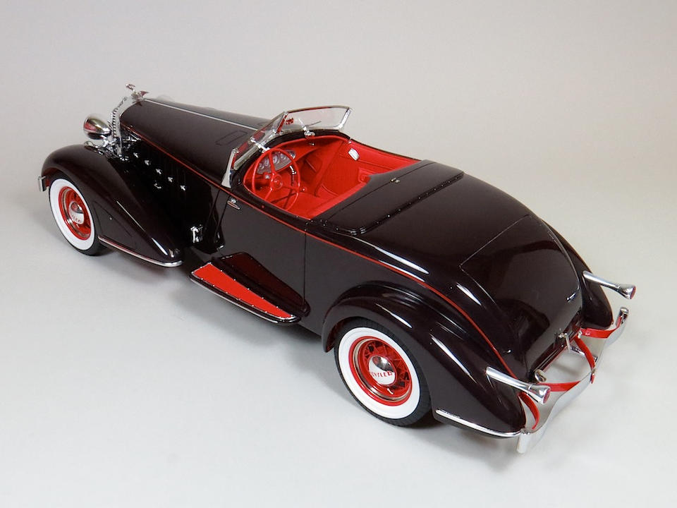 A 1:14 scale model of a 1932 Chrysler Imperial Speedster, Walter P. Chrysler's personal car,