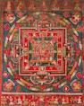 A Vasudhara Mandala Nepal, dated 1777