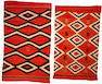 Two Navajo transitional rugs
