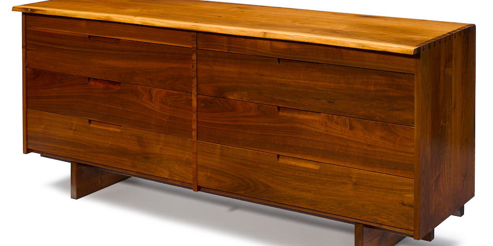 George Nakashima (American, 1905-1990)  Double Drawer Chest, 1968