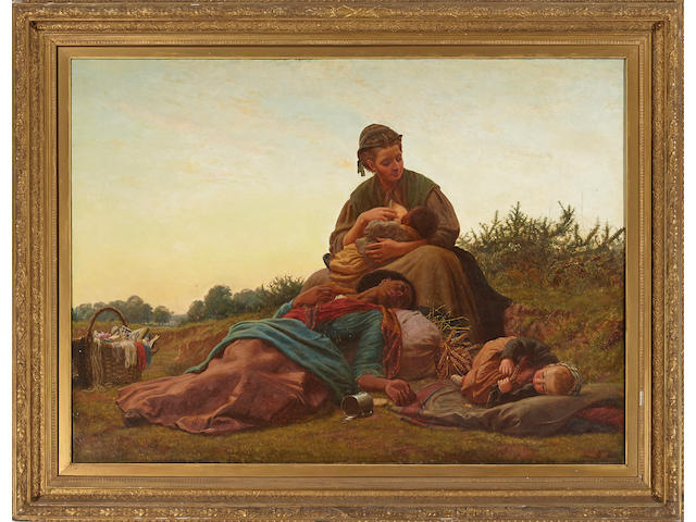 French School, 19th Century Her last journey 47 1/2 x 66in