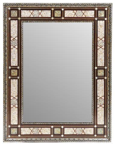 A Levantine shell inlaid mirror