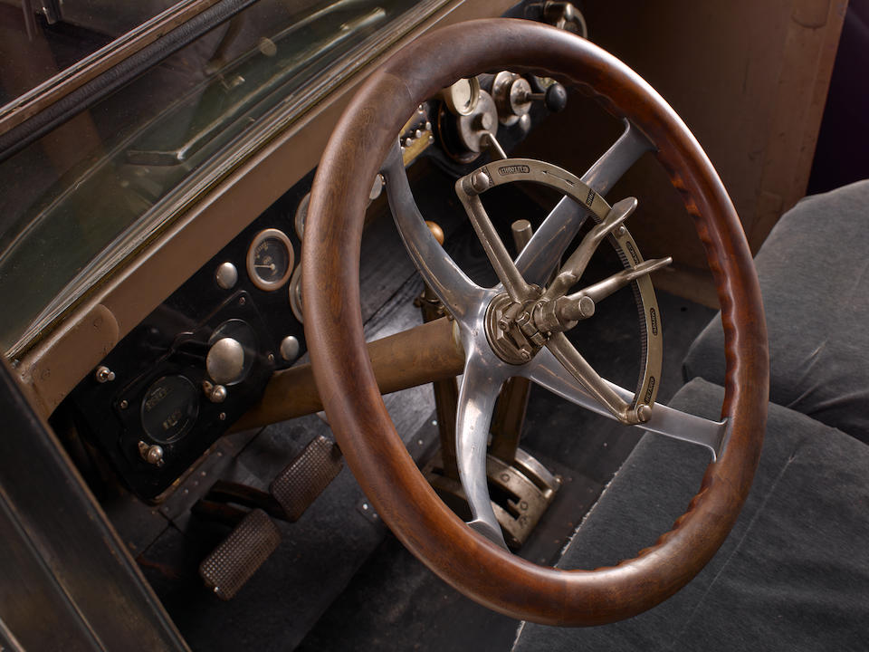 <i>Originally delivered to noted Speedboat racer Commodore Jonathan Moore</i><br /><b>1916 Simplex Crane Model 5 Berline  </b><br />Chassis no. 2420 <br />Engine no. 2402