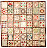 """A pieced and appliqued cotton presentation """"Album"""" quilt Luzerne County, Pennsylvania, dated 1846"""