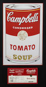 After Andy Warhol (American, 1928-1987); Campbell's Beef Barley Soup Label;