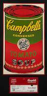 Andy Warhol, Campbell's soup can label with complimentary signature - NAVY BEAN