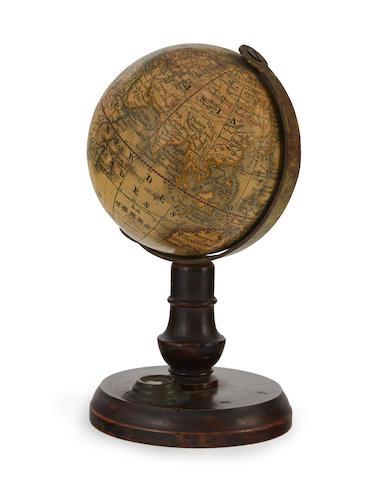 MINIATURE GLOBE; ABEL-KLINGER, C. La Terre d'après les plus nouvelles découverts. Nuremberg: Institut Artistique de C. Abel-Klinger, Editeurs, c.1860.