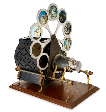 MAGIC LANTERN. Pettibone New Improved Sciopticon. Cincinatti, Ohio: Pettibone Mfg. Co., c. 1890.