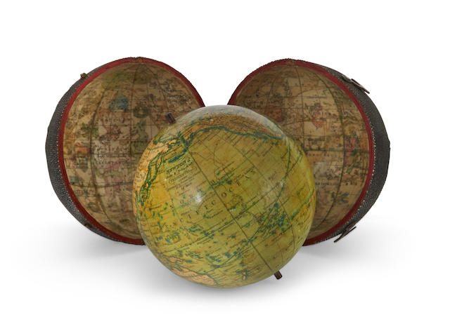 POCKET GLOBE; NEWTON, SON & BERRY. Newton's New and Improved Terrestrial Globe. London: Newton Son & Berry, 66 Chancery Lane, c.1830.