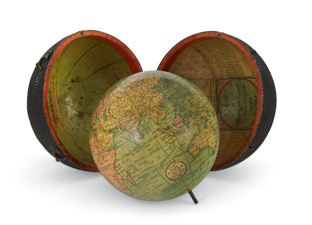 POCKET GLOBE; CARY, JOHN. Cary's Pocket Globe. Agreable to the Latest Discoveries. London: J & W Cary Strand, April 1, 1791.