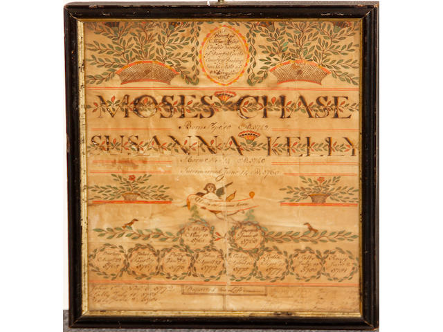 A family record for Moses Chase and Susanna Kelly, Deerfield, New Hampshire second half 18th century