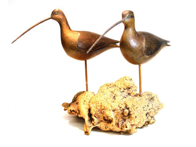 A pair of Curlew shorebirds Mark McNair Craddockville, Virginia20th century