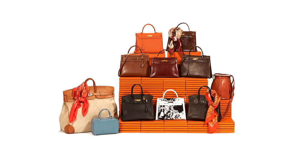An Hermès tan canvas and leather HAC Travel Birkin bag