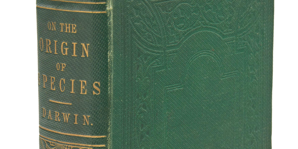 DARWIN, CHARLES.  The Origin of Species by Means of Natural Selection, or the Preservation of Favoured Races in the Struggle for Life. London: John Murray, 1859.