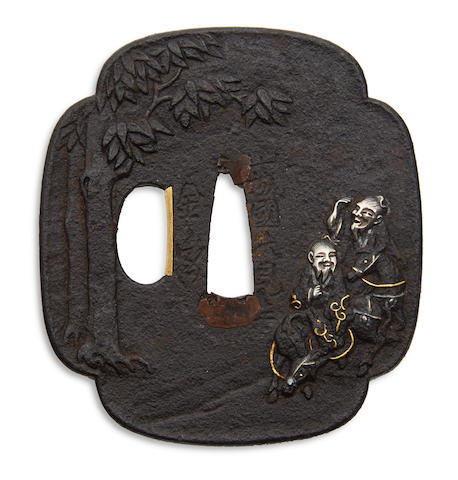 A Kaneie tsuba After Kaneie, Edo period (1615-1868), 18th century