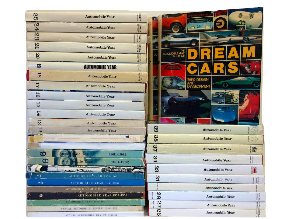 Bonhams A Near Complete Lot Of Automotive Year From The 1953 54 Edition To 1991 92 Edition With 2 Copies Of The Automobile Year Book Of Dream Cars Their Design And Development By Jean Rodolphe Piccard