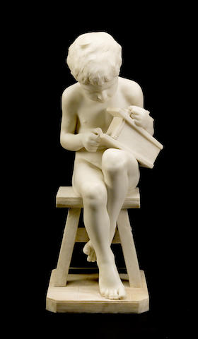 An Italian marble figure of a boy with mousetrap Pietro Bazzanti (Italian, 1825-1895)late 19th century
