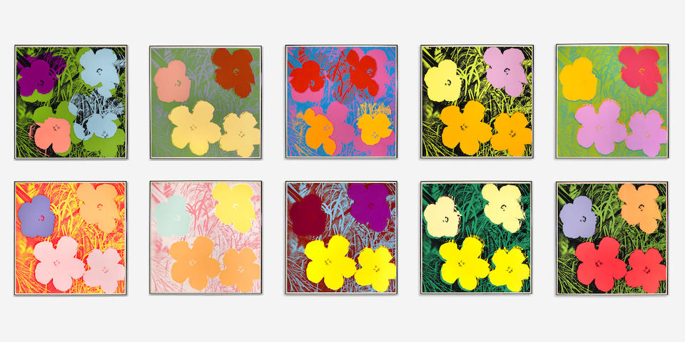 Andy Warhol (1928-1987); Flowers; (10)