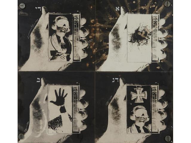 Wallace Berman (1926-1976) Silent Series, 1965 framed 13 x 14in. (33 x 35.6cm)