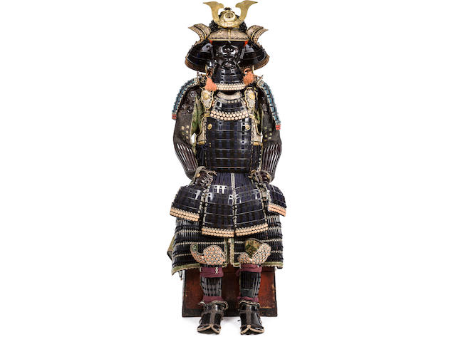 A black lacquer Daimyo armor with a mogami cuirass Edo period (18th century)