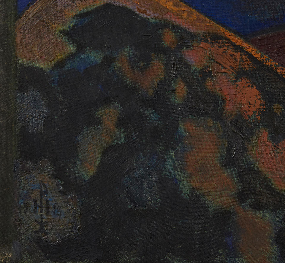 Nikolai Konstantinovich Roerich (Russian, 1874-1947) 'The praying stylite (Ecstasy)', 1918 unframed (Estimates available upon request)