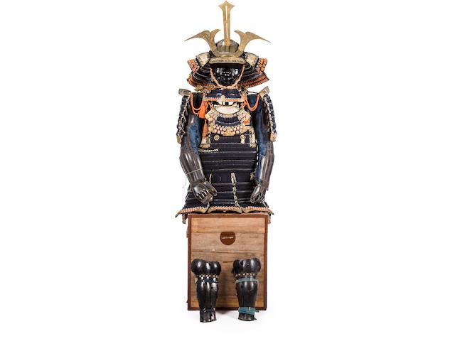 A fine daimyo armor with oboshi kabuto Edo period (19th century)