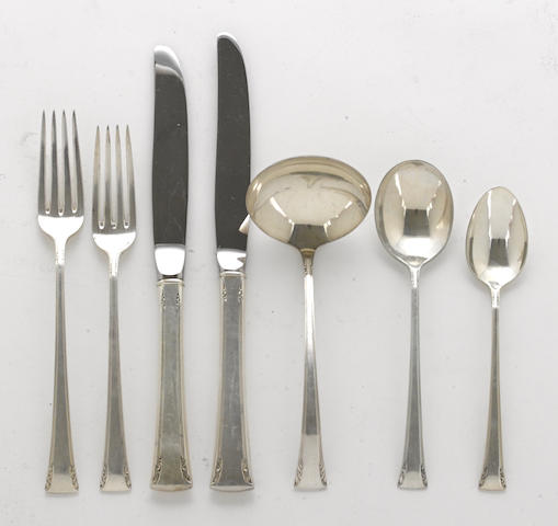 An American sterling silver flatware service for eight by International Silver Co., Meriden, CT, mid-20th century