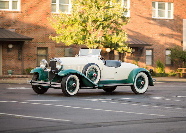 <i>Property from the Canton Classic Car Museum, Only known surviving example</i><br /><b>1929 Kissel Model 8-95 White Eagle Speedster  </b><br />Chassis no. 95-1139 <br />Engine no. 95-1258